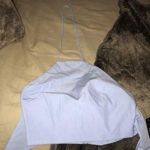 Lulu's crop tie in back